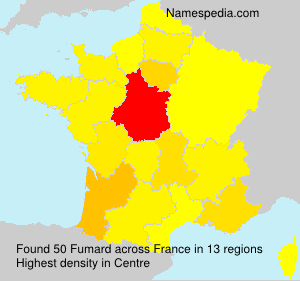 Surname Fumard in France