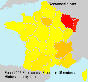 Surname Fuss in France
