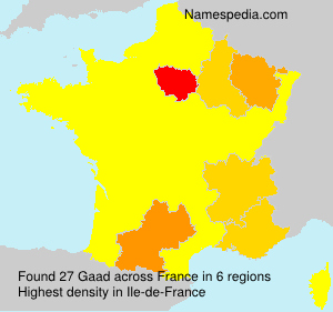 Surname Gaad in France