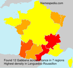 Surname Gabbana in France