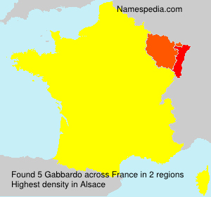Surname Gabbardo in France