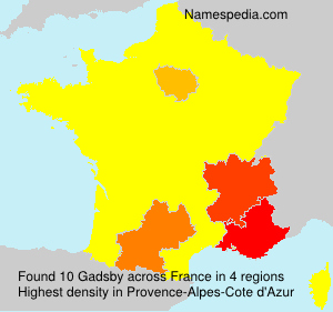 Surname Gadsby in France