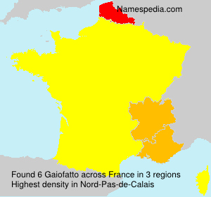 Surname Gaiofatto in France