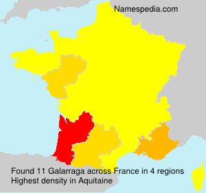 Surname Galarraga in France