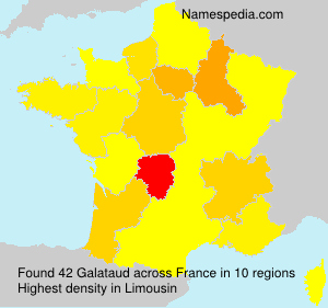 Surname Galataud in France