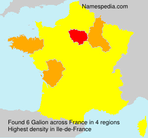 Surname Galion in France