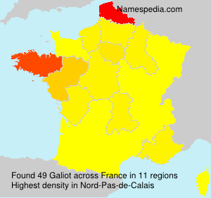 Surname Galiot in France