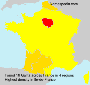 Surname Galita in France
