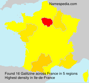 Surname Galitzine in France