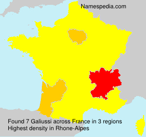 Surname Galiussi in France