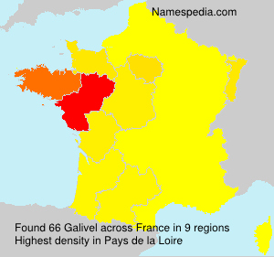 Surname Galivel in France