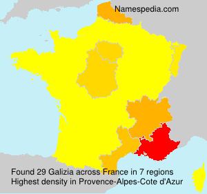 Surname Galizia in France