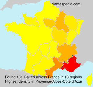 Surname Galizzi in France