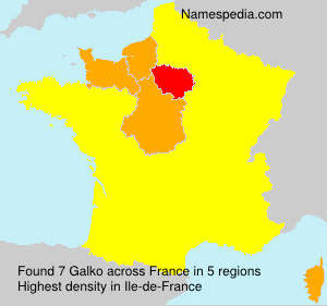 Surname Galko in France
