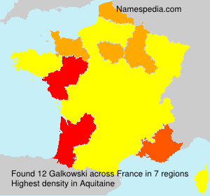 Surname Galkowski in France