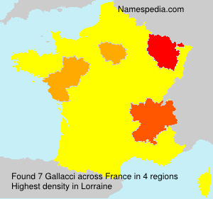 Surname Gallacci in France