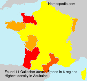 Surname Gallacher in France