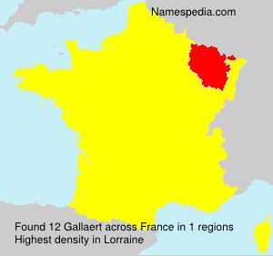 Surname Gallaert in France