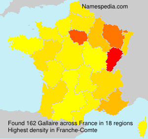 Surname Gallaire in France