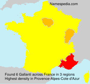 Surname Gallanti in France