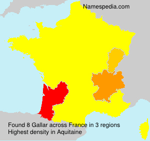 Surname Gallar in France