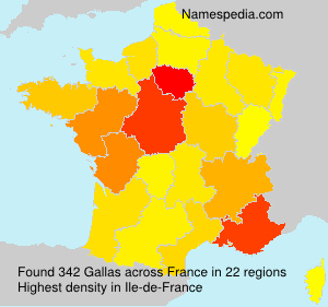 Surname Gallas in France