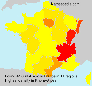 Surname Gallat in France