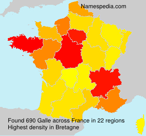 Surname Galle in France