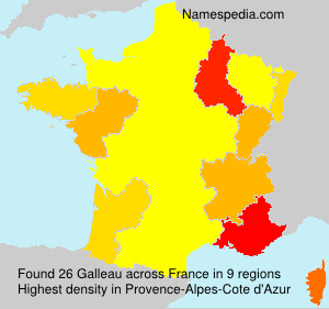 Surname Galleau in France