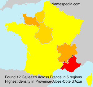 Surname Galleazzi in France