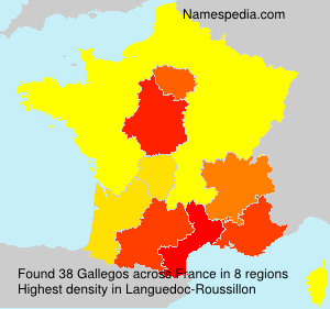 Surname Gallegos in France