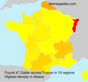 Surname Galler in France