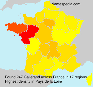 Surname Gallerand in France