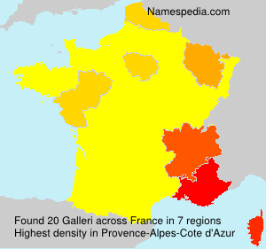 Surname Galleri in France