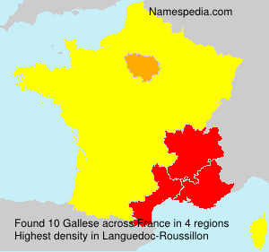 Surname Gallese in France