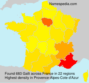 Surname Galli in France