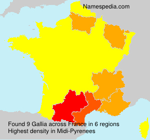 Surname Gallia in France