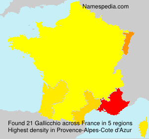 Surname Gallicchio in France