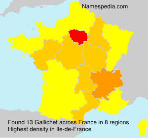 Surname Gallichet in France