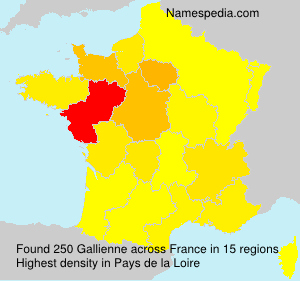 Surname Gallienne in France
