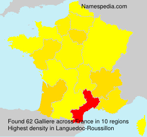 Surname Galliere in France