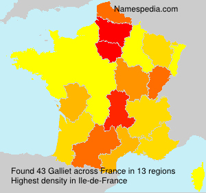 Surname Galliet in France