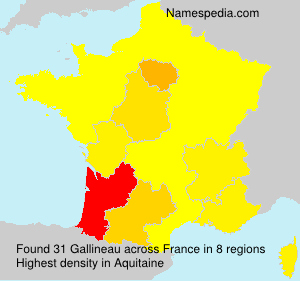 Surname Gallineau in France
