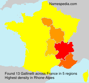 Surname Gallinelli in France