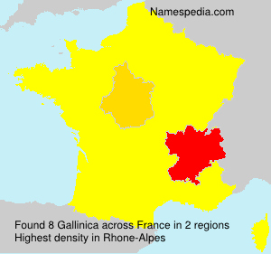 Surname Gallinica in France