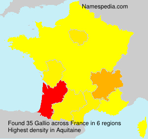 Surname Gallio in France