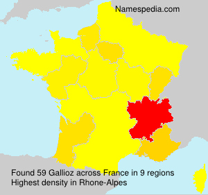 Surname Gallioz in France