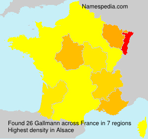 Surname Gallmann in France