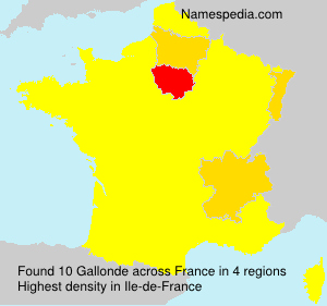 Surname Gallonde in France