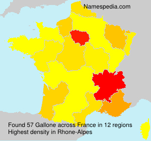 Surname Gallone in France